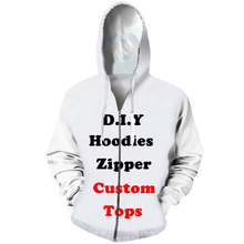 CJLM Diy Custom Design Mens Womens Clothing 3D Print Zipper