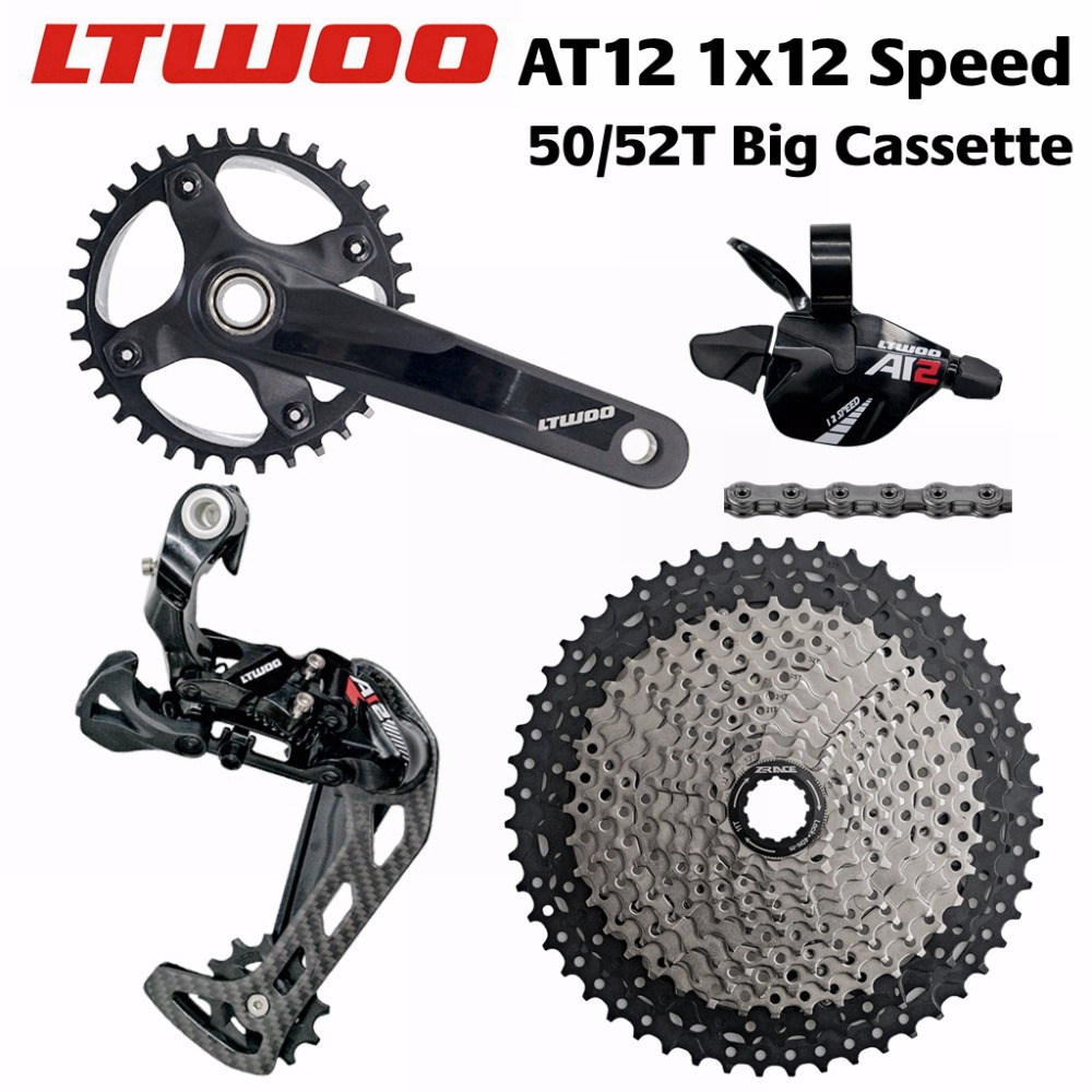 LTWOO AT12 12 Speed Crankset + Shifter + Rear Derailleur + 50/52T ZRACE Cassette + YBN 12s Chain Groupset PCR BEYOND EAGLE M9100 53000459