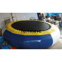 water jumping bed trampoline Gymnastics Trampoline water bouncer inflatable bouncer floating water park