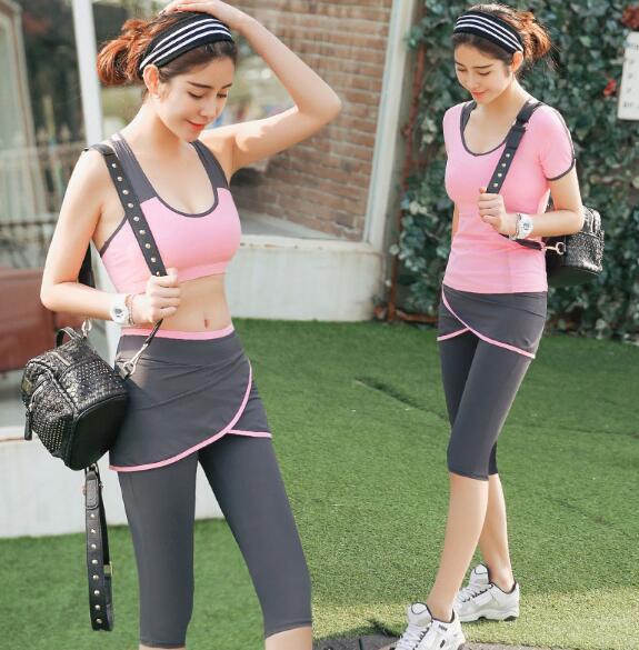 2016 Новый йога набор женщины спортивный бюстгальтер Sexy push up Центр Дышащий Фитнес Одежда Тренировки спорт костюмы для женщин