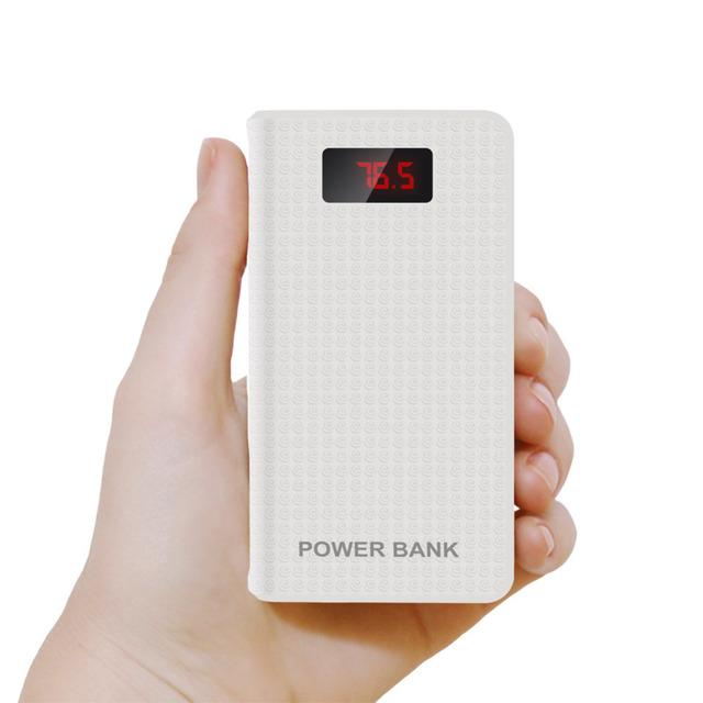 DCAE Nueva Pantalla LCD Polímero Banco de la Energía 10000 mah 3 USB Batería Externa Powerbank Cargador Portátil para todos los teléfonos