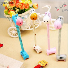 YOUE SHONE 1Pcs/lot Korean stationery cute fun donkey hippo pen can stand ballpoint creative