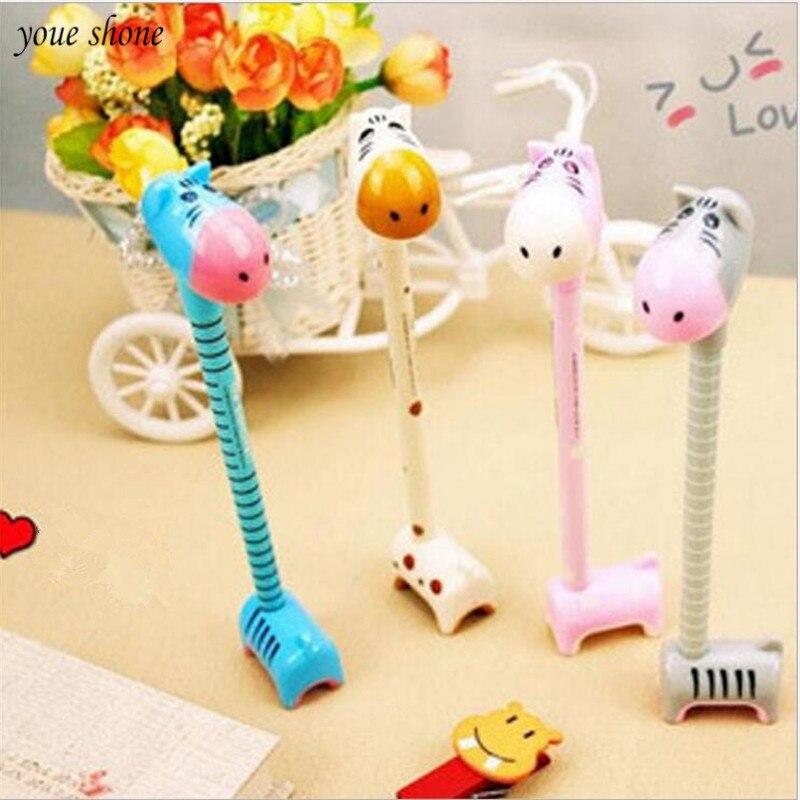 YOUE SHONE 1Pcs/lot Korean stationery cute fun donkey hippo pen can stand ballpoint creative
