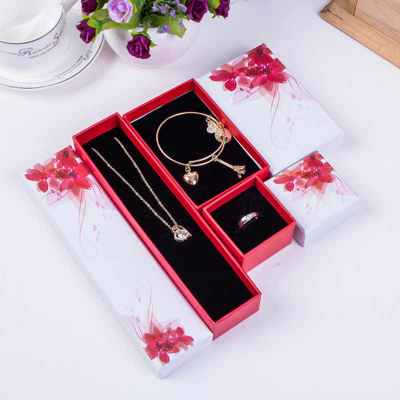 (5.8*5.8*4cm)  ring necklace bracelets box small gift boxes paperboard box jewelry box