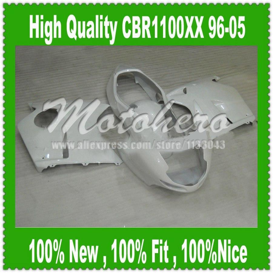 Fairing kit All White Q325 for Honda CBR1100XX 96-05 CBR1100 XX 96 05 1996 2005 CBR 1100XX 96 05 CBR 1100 XX 96 05