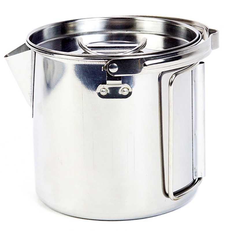 1,2 л походный чайник из нержавеющей стали кипяток подвесной горшок кухонная посуда для приготовления кофе