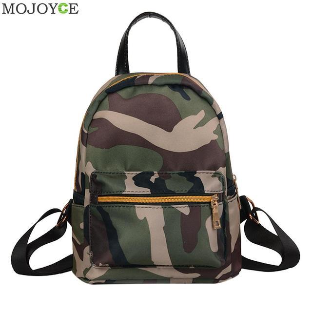 Waterproof Oxford Canvas Backpack Mini Women Backpack Travel School Bag  Girls Shoulder Bags Camouflage Rucks Female Backpack a0dc1936559b6