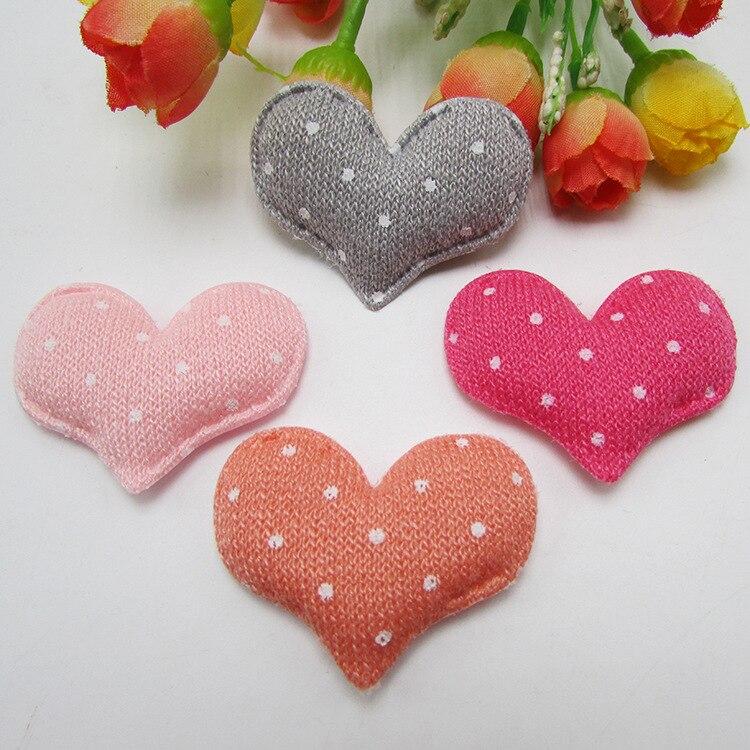 5.2 см * 4 см цветы серии идеи ткань сердца аксессуары для волос 50 шт., DIY материалы ручной работы, свадебная подарочная упаковка, 50Y50074