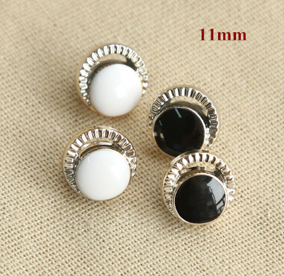 30pcs/lot Size:11mm Fashion moon shape hollow out design shank buttons,plastic plating shirt button,diy accessories(ss-698)