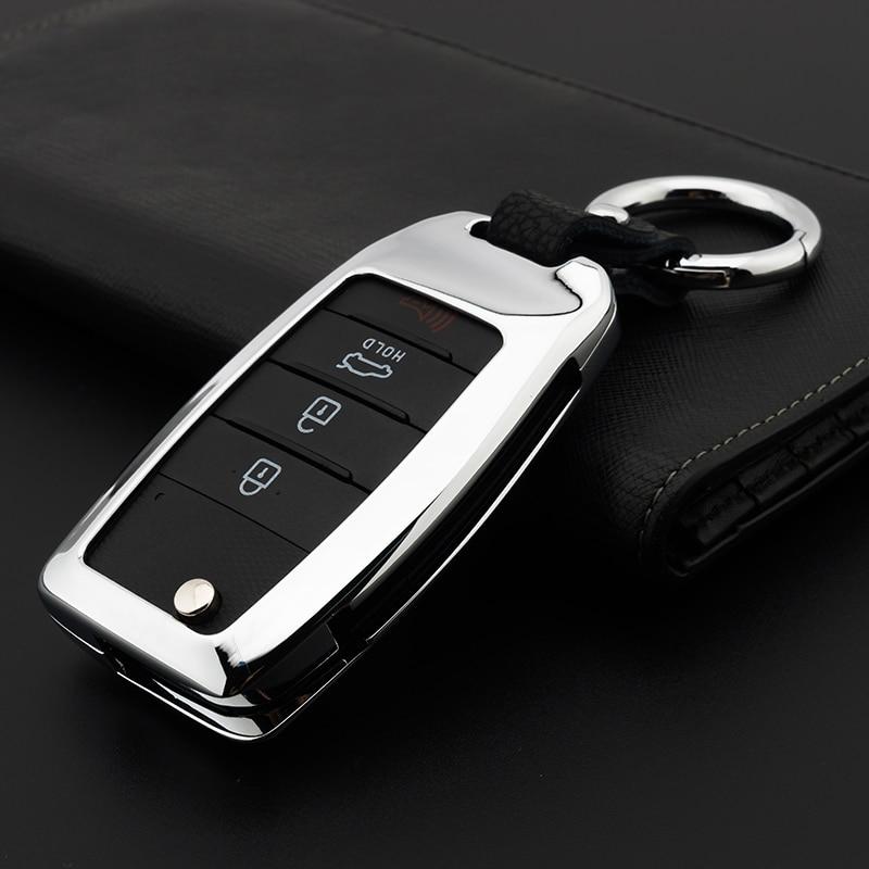 Zinc alloy Car Key Remote Cover Case For Kia Rio K2 Sportage 2017 2018 Ceed Optima K5 Cerato K3 K4 Sorento Carens Auto Key Case