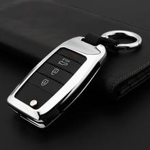 цена на Zinc alloy Car Key Remote Cover Case For Kia Rio K2 Sportage 2017 2018 Ceed Optima K5 Cerato K3 K4 Sorento Carens Auto Key Case
