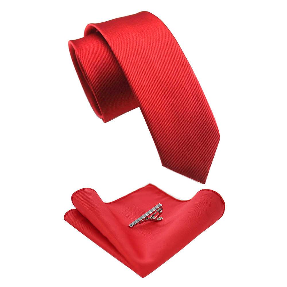 الكلاسيكية بلون رجل التعادل الحرير 6 سنتيمتر الرسمي ربطة العنق و جيب مربع التعادل كليب مجموعات العلاقات ل رجل الأعمال الزفاف هدية حزب