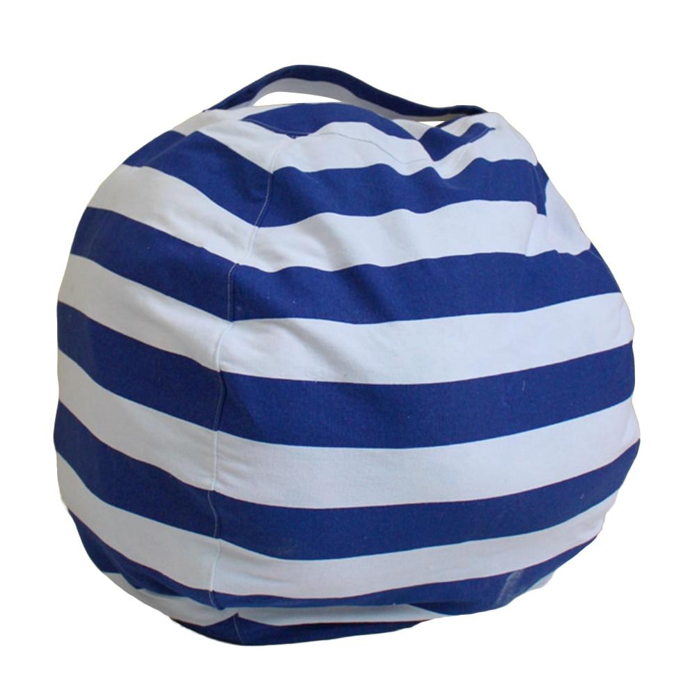 Large Capacity Canvas Stuffed Plush Toys Clothes Home Storage Bean Bag Organizer