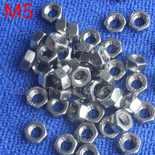 M5 1pcs 304 stainless steel hex nuts 5mm Silvery hexagon nut A2-70 nuts against rusting  No rust durable General accessories