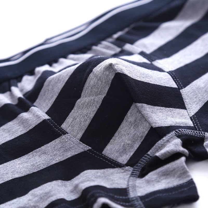 ... Brand Underwear Men Cueca Boxer stripe body Suit Cotton Sheer Boxer  Shorts Klein Property Underpants Hombre e3f4e10098aa