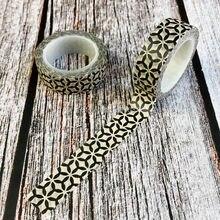 1x Geometry diamond gem washi tape japanese DIY decoration scrapbooking planner masking tape adhesive tape kawaii stationery