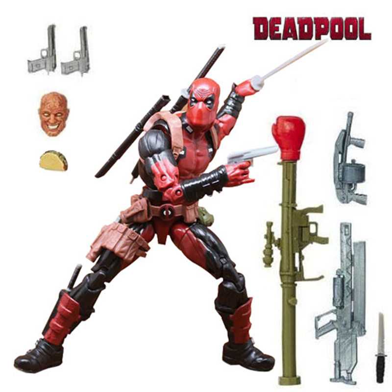 Marvel Legends X Men Deadpool Chimichanga Action Figure Toys Wade Winston Juggernaut Series 6 Weapon With