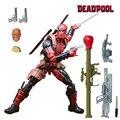 "Marvel Legends X-men Deadpool Wade Winston Chimichanga Figura de Acción Juguetes Juggernaut Series 6 ""Arma Con Base 2 cabezas Raras"