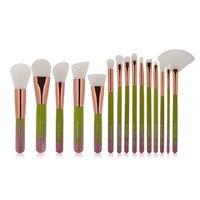 JEYL MAANGE New Arrivals 15 Pcs Complete Makeup Brushes Set Make Up Tools Kit Powder Foundation