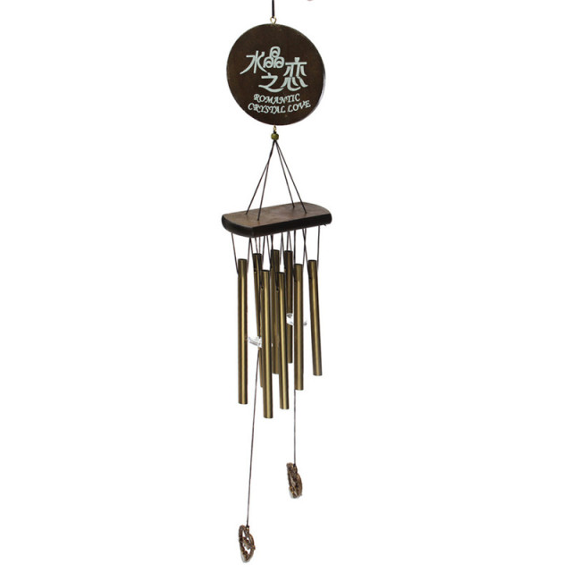 Antique Amazing Grace Deep Resonant 8 Tube Wind Chime Chapel Bells  Windchimes Door Hanging Ornament Home