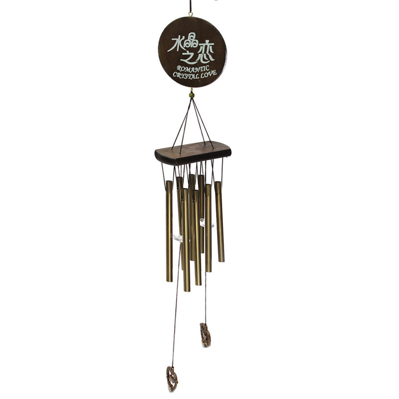 antique amazing grace deep resonant 8 tube wind chime chapel bells wind chimes door hanging home dec