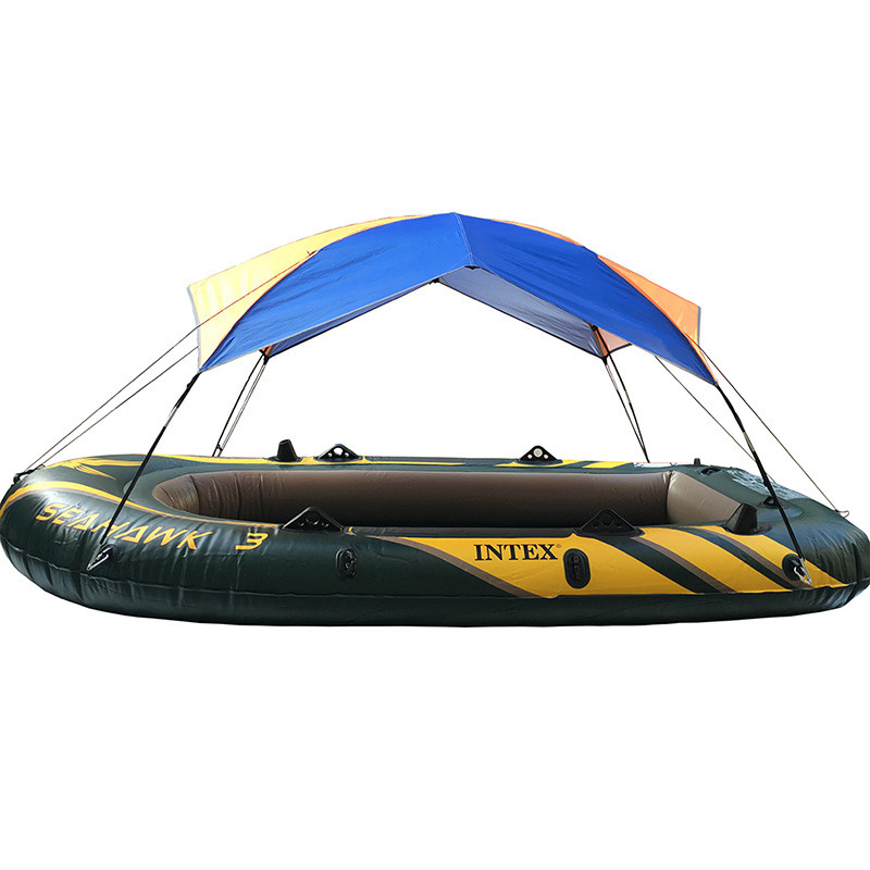 US $31 4 20% OFF Portable Kayak Awning Rain Canopy Inflatable Boat Folding  Sunshade Tents For 2 3 4 Person 68347 68349 68351 68377 Intex Boats-in