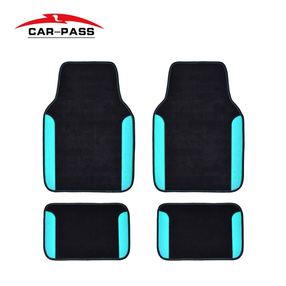 Car-pass Rainbow Car Floor Mats Pvc Leather Universal Auto Interior Accessories Keep Car Clean Tools