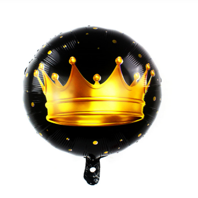 1pc Large 39inch Gold Crown Foil Balloons Prince Princess Baby Shower 20 1st Birthday coroa Party Decorations adult globos 4