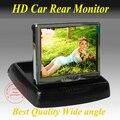 "Grande 4.3 "" Monitor do carro cor TFT LCD carro Monitor retrovisor DVD w / PAL / NTSC frete grátis"