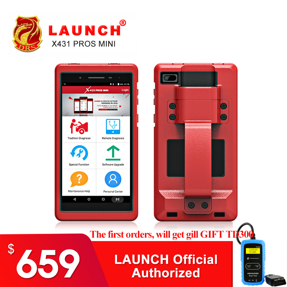 цена на OBD2 II Diagnostic Tool Launch X431 Pros mini Diagnostic Scanner WiFi Bluetooth Full Systems Auto Code Reader 2 Year Free Update