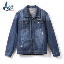 ACEMIRIZ Embroidery Letter Denim Jacket Couple Lovers Unisex Coat Women Men Jackets Autumn Boyfriend Cowboy Brand Clothing 6803