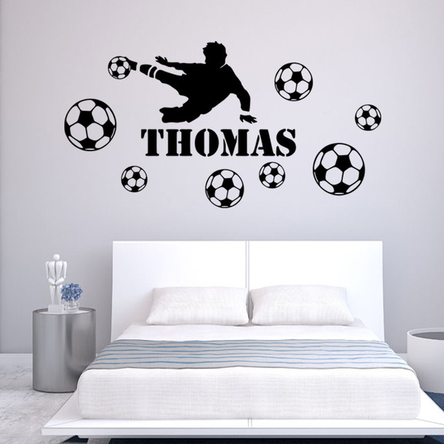New Environmental Protection Removable Soccer Wall Stickers Living Room  Bedroom Bar Cartoon Decals Soccer Club Stadium