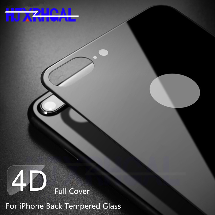 4D Back Tempered Glass For IPhone X XR XS Max 10 Full Cover Screen Protector For IPhone 7 8 Plus Glass Back Protective Film