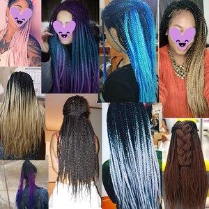 Плетеные косички VERVES, 24 дюйма, 22 корня/упаковка, синтетические косички для наращивания волос с эффектом Ombre, косичка розового, черного цвета