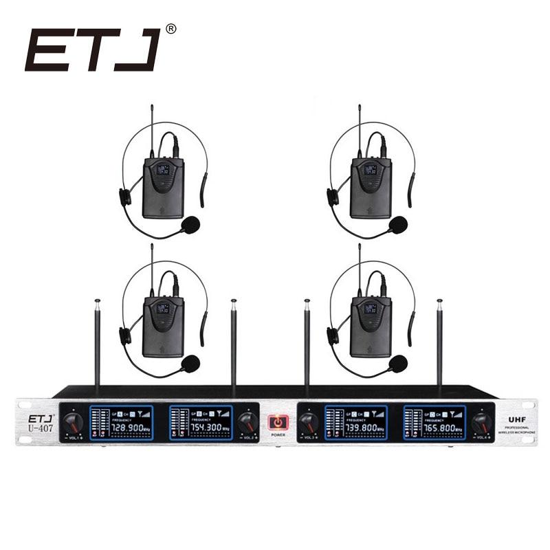 Free shipping Wireless Microphone System ETJ U407