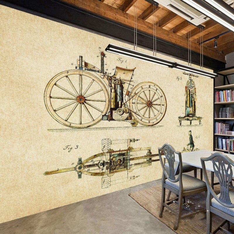 Photo Wallpaper Bicycle Retro European American Wall