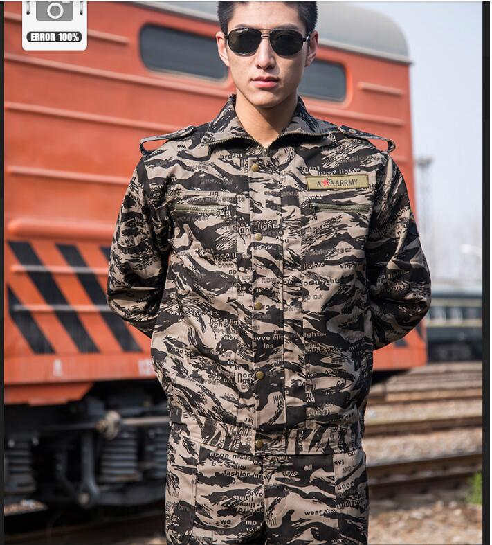 Abbigliamento Militare Manica Lunga Tuta Mimetica Officina Servo Abbigliamento Di Sicurezza Materiali Di Alta Qualità Al 100%