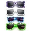 4 color! moda Minecraft gafas de Sol Niños cos jugar Juego de acción Juguetes Gafas Cuadradas con EVA caso de regalos para Hombres, Mujeres