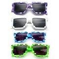 4 cores! moda Minecrafter Óculos De Sol Crianças cos jogar Jogo de ação Brinquedos Quadrados Óculos com caso EVA presentes para Mulheres Dos Homens