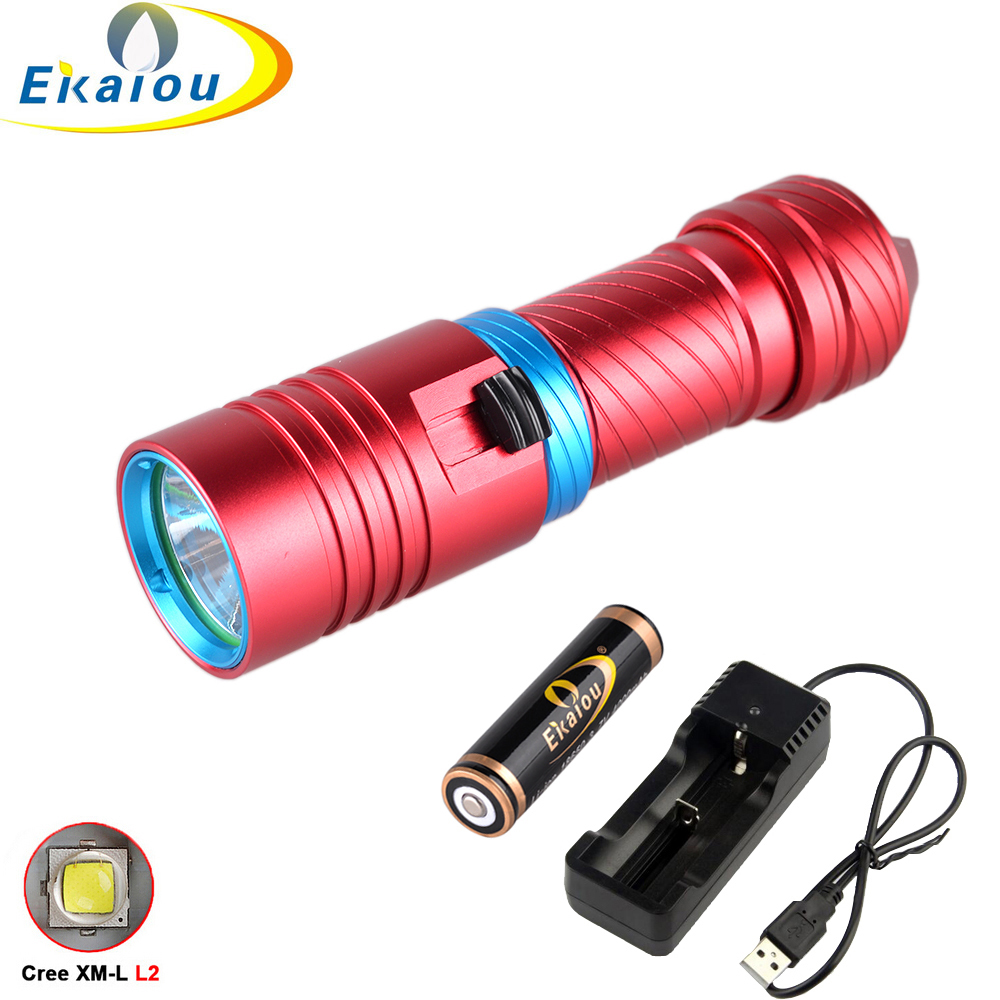 3800 Lumen CREE XM-L2 LED Diving Flashlight Underwater Submarine Light Lamp Waterproof Torch