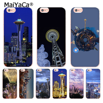 MaiYaCa Seattle landscape fashion cell phone case for Apple iPhone 8 7 6 6S Plus X 5 5s 11pro 12pro max 12mini SE Cover image
