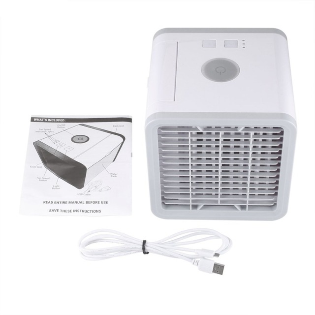 USB mini Air Cooling Fan Cooler Air Conditioning Cooler Compact Size Powerful Household Office Use Handy Cooler Blue Light