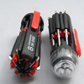 Multifunctional eight head screwdriver LED flashlight 3LED 8-in-1 Utility tool white light lamp torch
