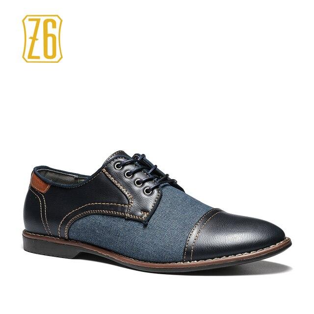 2017 мужчины повседневная обувь ручной работы дышащие удобные джинсы Z6 марка мужчины обувь # W3186-6