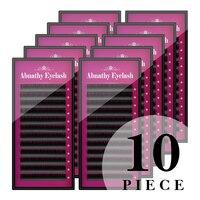 Abnathy 10pcs/Lot All sizes Mink Eyelash Extension artificial eyelash Fake False Eyelash