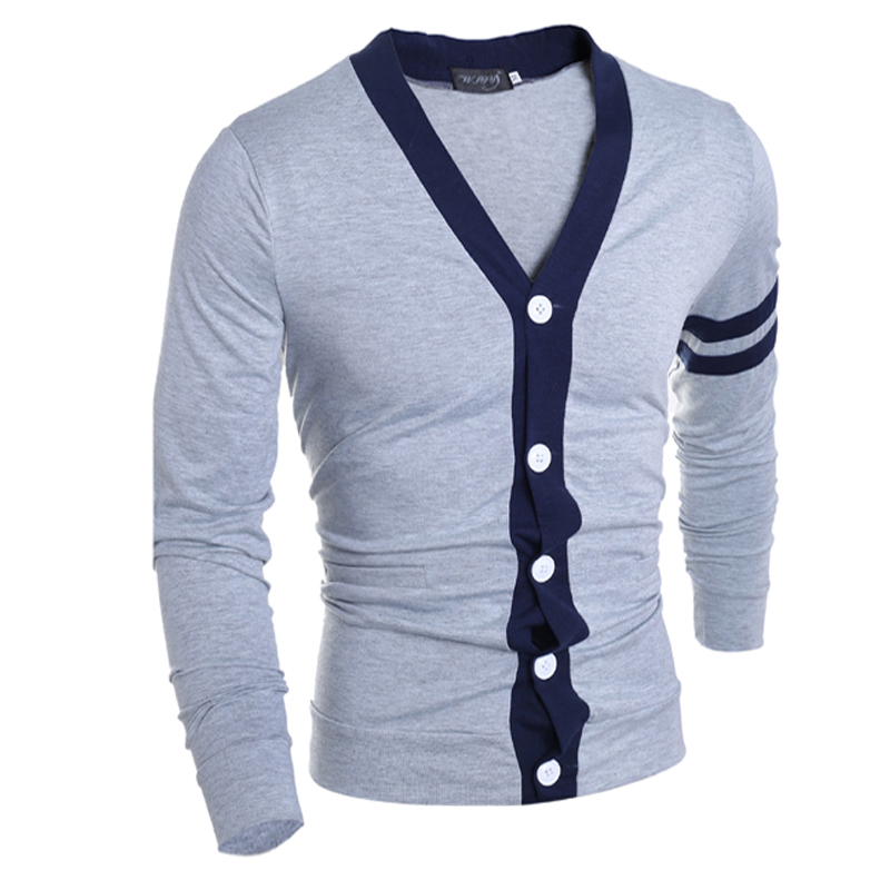 2018 Men Sweaters Knitted Cardigan Long Sleeve Casual Knitwear Patchwork Spring New Sweatercoat Jacket Classic Social Overwear