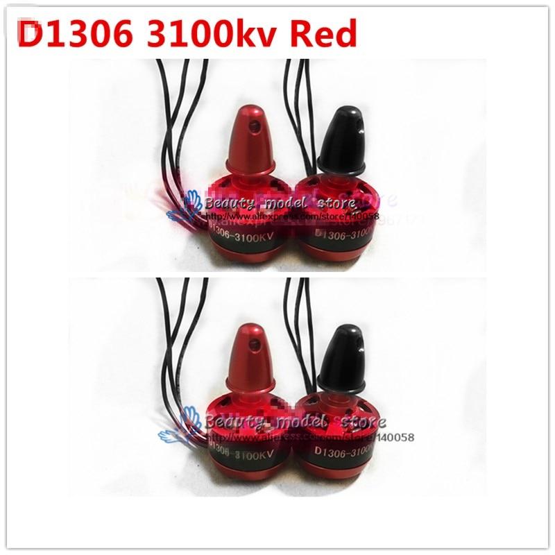 4PCS DIY FPV mini 1306 3100KV red Brushless Motor (cw/ccw) For DIY PFV drones mini race quadcopter QAV 130/QAV 210/180/ML200/190 lhi fpv 4x mt2206 2300kv cw ccw fpv brushless motor 2 4s 4 pcs racerstar rs20a lite 20a blheli s bb1 2 4s brushless esc