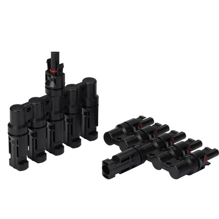1Pairs x MC4 5T Connector male female MC4 5 Branch Solar Panel PV System Waterproof IP67 Connector module parallel connection maylar 1pairs x mc4 3t connector male and female mc4 3 branch solar panel connector used for solar module parallel connection