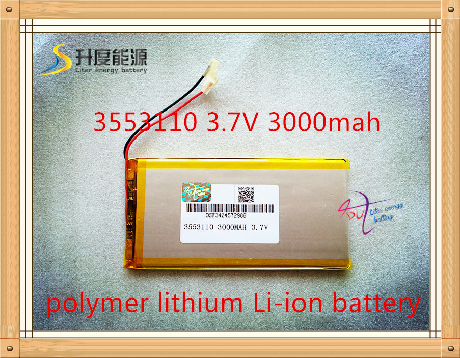 Rechargeable Batteries 3.7v 3000mah Polymer Lithium Li-ion Battery For Tablet Pc 7 Inch Mp3 Mp4 3553110 taipower onda 8 inch 9 inch tablet pc battery 3 7v 6000mah 3 wire 2 wire lithium battery