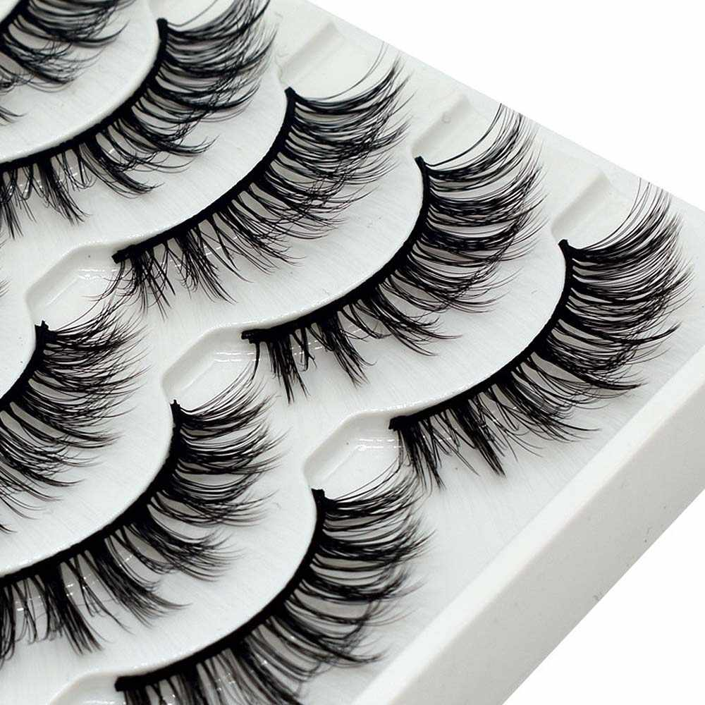 6 Pcs 3D Magnetic Bulu Mata Mink Lembut Bulu Lash Penuh Strip Alami Salah Eyelashe Ekstensi Bulu Mata Handmade Tipis Berbulu Panjang Bulu Mata